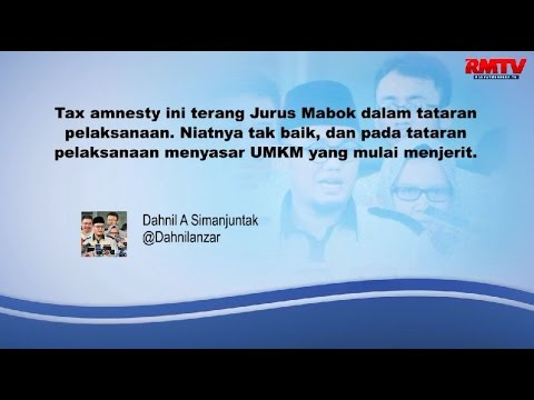 Jurus Mabok Itu Bernama Tax Amnesty