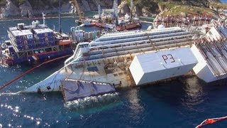 Video Cleaning Up Costa Concordia's 180,000-Ton Ruins MP3, 3GP, MP4, WEBM, AVI, FLV Januari 2019