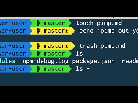 Pimp your terminal with Custom ZSH Themes & Prompts - Command Line Power User (6/11)