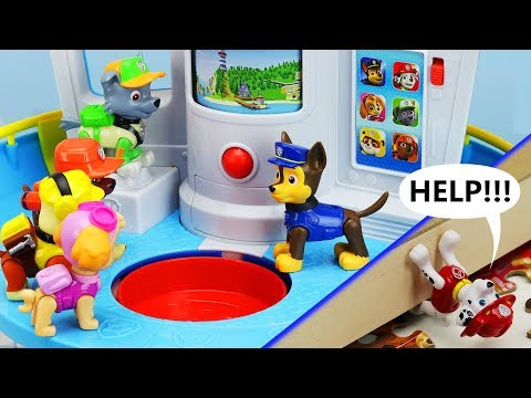 MARSHALL'S IN TROUBLE! Paw Patrol My Size Lookout Tower, Rescue Mission & Puzzle Toy Learning Video