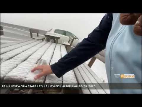 PRIMA NEVE A CIMA GRAPPA E SUI RILIEVI DELL'ALTOPIANO   28/09/2020
