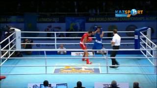 The world boxing championship. Daniyar Eleusinov (69 kg) against Aradzhik Marutzhan