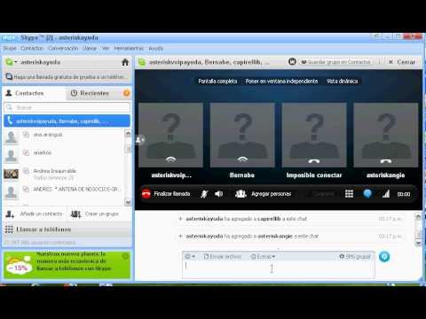 Video 2 de Skype: Cómo hacer videoconferencias con Skype