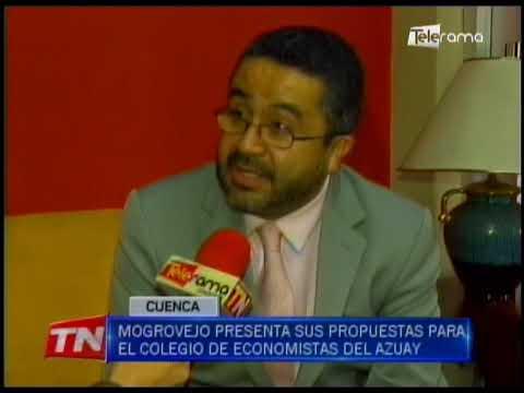 Mogrovejo presenta sus propuestas para el Colegio de Economistas del Azuay