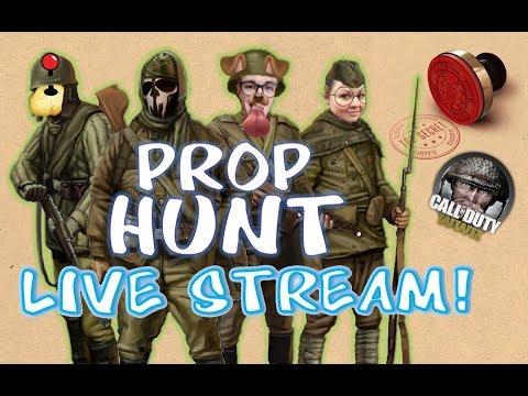 PROP HUNT FUN! w/ SUPERBIRD, GAMERTATERS & KATIE  COD WWII: PROP HUNT LIVE STREAM
