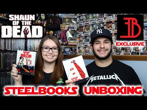 Shaun Of The Dead EverythingBlu Exclusive Steelbooks Unboxing