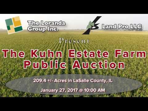 LaSalle Co., IL 209.4 Acre Farm Land Auction Promotional Video by The Loranda Group & Land Pro LLC