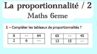 Maths 6ème - La proportionnalité 2 Exercice 8