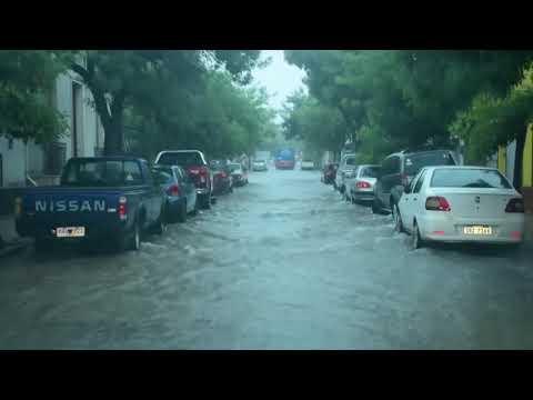 Llovieron casi cien milímetros en pocas horas durante la jornada del domingo.