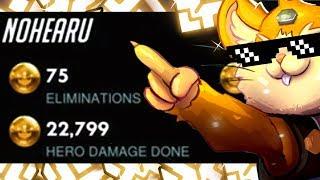 75 ELIMS! Grandmaster Hammond Gameplay - Yeatle! [ OVERWATCH SEASON 16 TOP 500 ]