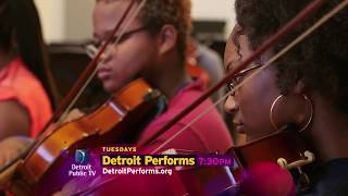 On the next episode of Detroit Performs: Urban Stringz trains youth to get funky with their instruments; Young sculpting talent Austen Brantley; And a group of Detroit Public School students use their surroundings to create art. Episode 607.