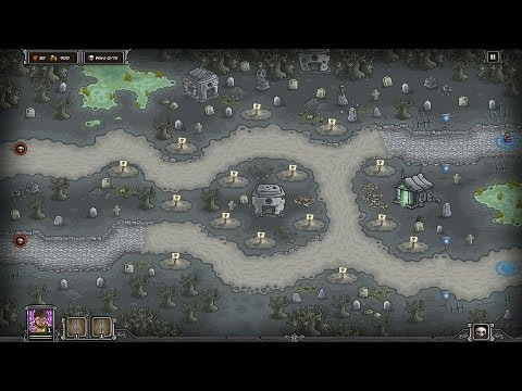 Kingdom Rush Walkthrough | Hard | Steam Version | Ancient Necropolis | 3 Stars