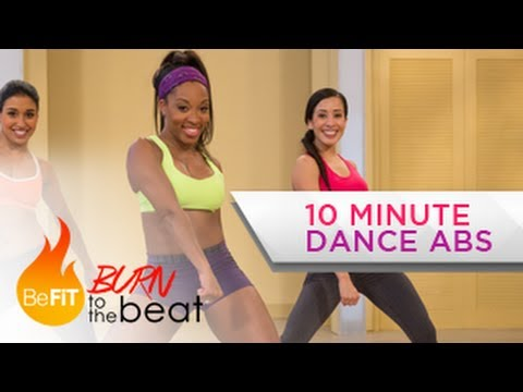 befit - 10 Minute Cardio Dance Abs Workout: Burn to the Beat with Keaira LaShae is a high energy fat-burning dancer's abdominal workout that was created to sculpt ti...