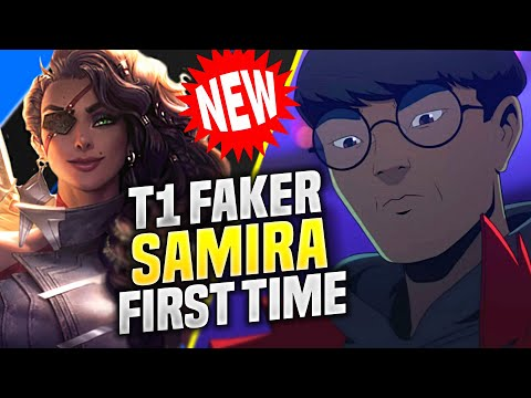FAKER FIRST TIME PLAYING SAMIRA *NEW CHAMPION* - T1 Faker Plays Samira ADC vs Lucian! | KR SoloQ