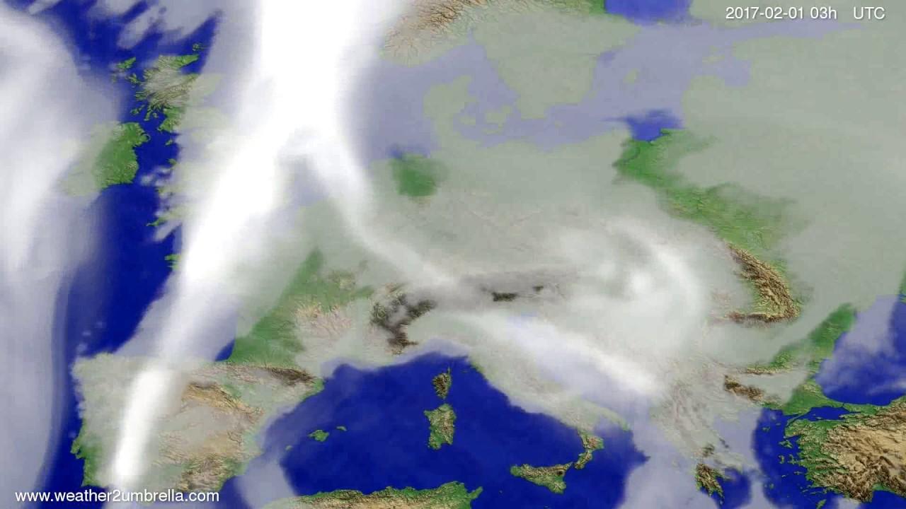 Cloud forecast Europe 2017-01-29