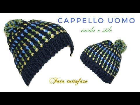 TUTORIAL: cappello da uomo/ hat crochet***lafatatuttofare***