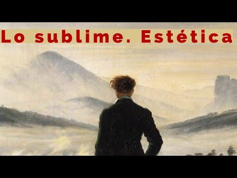 La categoría estética de lo sublime