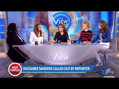 White House War W/The Media (Sanders Called Out) - The View