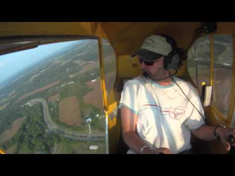 A day in the Piper Cub- around the patch in a J-3 .