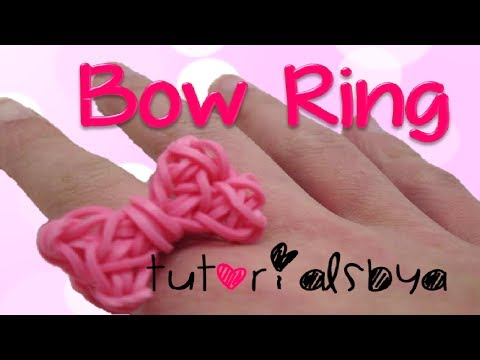 NEW Bow Ring Rainbow Loom Tutorial- Original Design