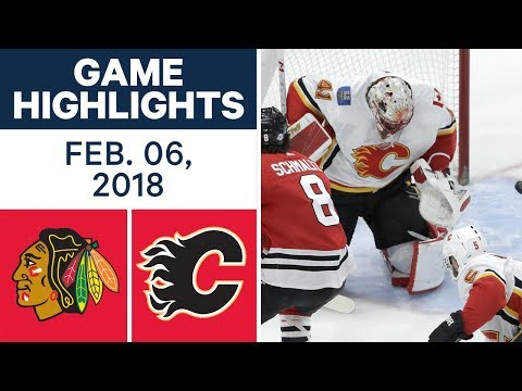 Video: NHL Game Highlights | Blackhawks vs. Flames — Feb. 06, 2018
