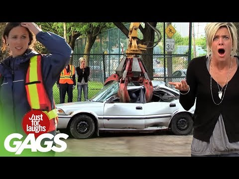 just - http://gags.justforlaughs.com | Subscribe! http://goo.gl/67gcH Wow! These car pranks gave us such incredible reactions! Car Crushed In a Cube Badass Grandpa ...