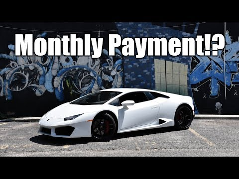 Monthly Payment on My Lamborghini Huracan 580-2...