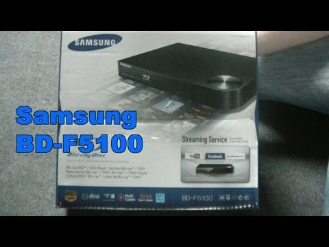 Samsung BD F5100 Blu ray Player unboxing