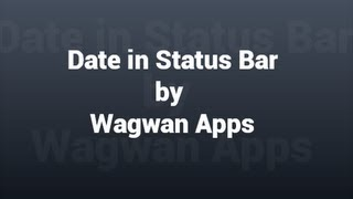 Date in Status Bar YouTube video