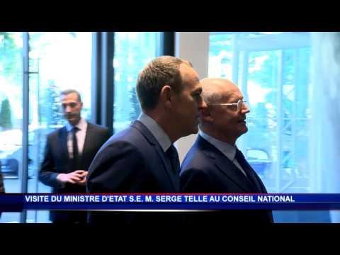 Serge Telle en visite au Conseil National