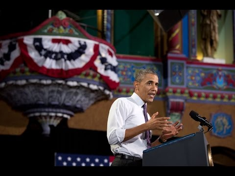 president - President Obama speaks on expanding opportunity for more Americans at the Uptown Theater in Kansas City, Missouri. July 30, 2014.