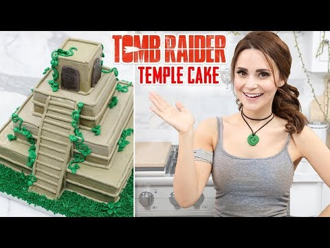 TOMB RAIDER TEMPLE CAKE - NERDY NUMMIES