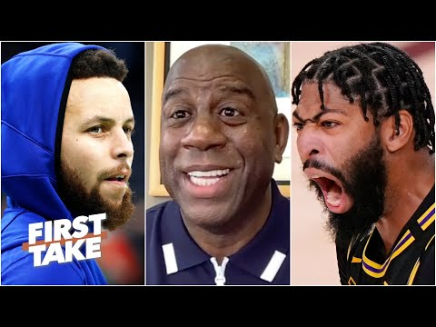 Magic Johnson names his top 4 teams in the West & guarantees AD's return to the Lakers | First Take