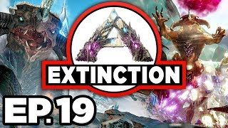 ARK: Extinction Ep.19 -  GACHA CLAUS, OPENING RAPTOR CLAUS MYSTERY BOXES (Modded Dinosaurs Gameplay)