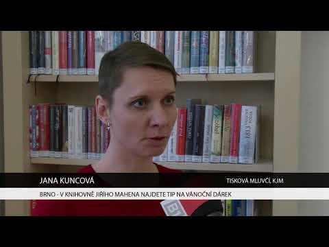 TV Brno 1: 5.12.2017 V knihovně Jiřího Mahena najdete tip na vánoční dárek