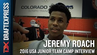Jeremy Roach Interview at USA Basketball Junior National Team Camp