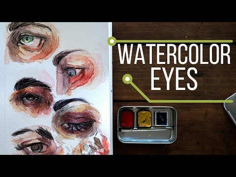 Watercolor Eye Painting - Primary Colors DIY Travel Palette