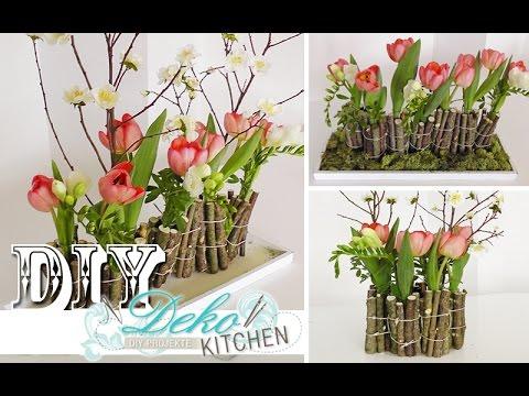 Deko selber machen anleitung  DIY Ausgefallene Blumendeko mit Holz selber machen Deko Kitchen ...