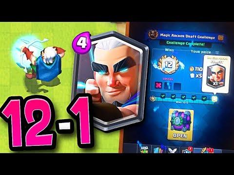 WIN THE MAGIC ARCHER! Clash Royale Magic Archer Challenge (видео)