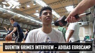 Quentin Grimes Interview - Adidas Eurocamp