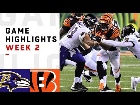 Ravens vs. Bengals Week 2 Highlights | NFL 2018 (видео)