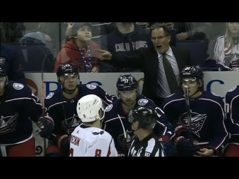 Video: Ovechkin and Tortorella shouting match after Calvert ejection