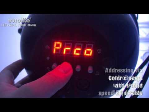 Eurolite LED PAR-64 RGB Spot 36x 3W Short