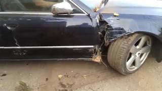 Ale urwał! Przeciąganie liny Audi A8 vs traktor zakończone pięknym driftem! :D
