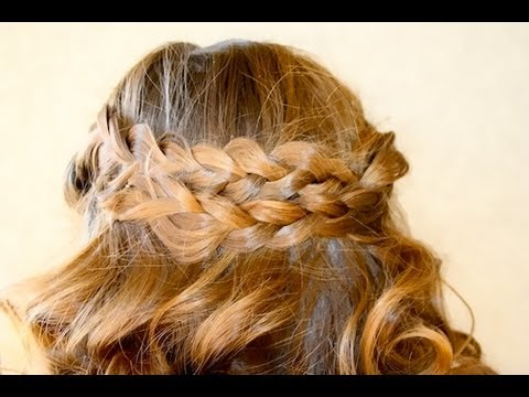 Pancake Braids w%2F Sock Curls %7C Bohemian Hair %7C Cute Girls Hairstyles 