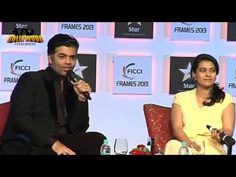 kajol - Karan Johar had an interesting conversation with Kajol at the Day 3 Of 'FICCI Frames 2013' in Mumbai. The actress explained why she won't do a film like 'The...