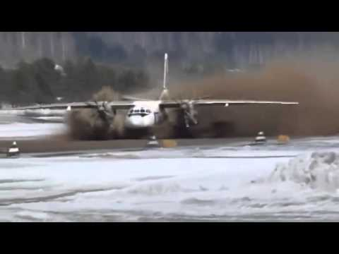 Plane takes off from mud bath - watch the terrifying footage!