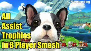 All 39 Assist Trophies in 8 PLAYER SMASH (Super Smash Bros Wii U