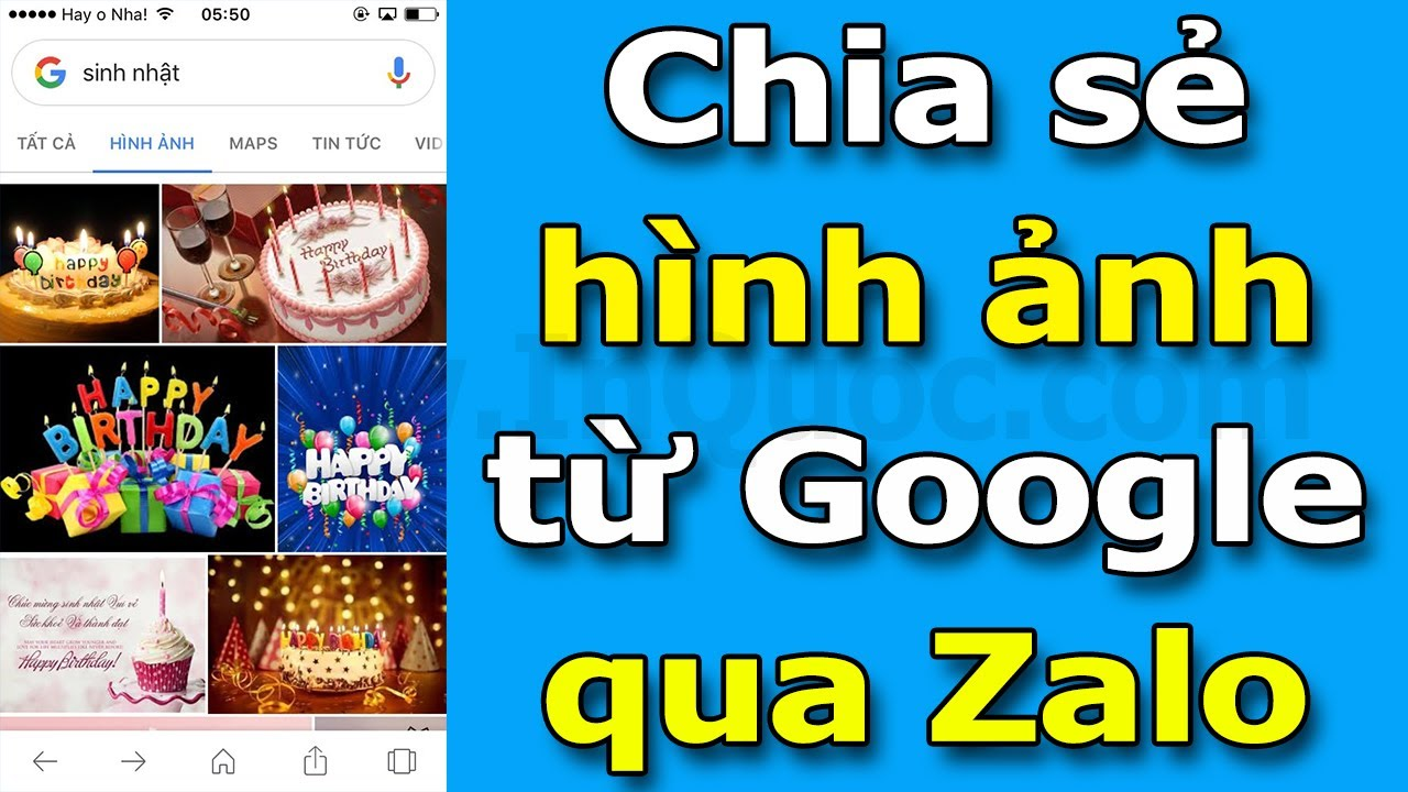 Hướng dẫn tìm kiếm và chia sẻ hình ảnh từ Google qua Zalo để gửi cho bạn bè trên điện thoại mới nhất