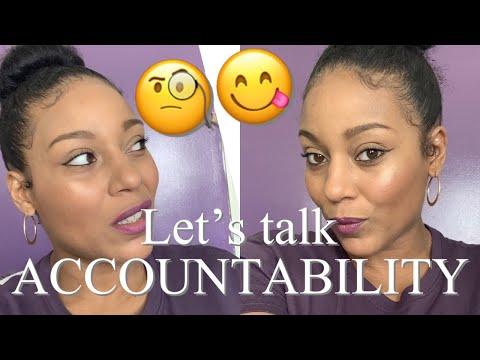Taking Accountability.